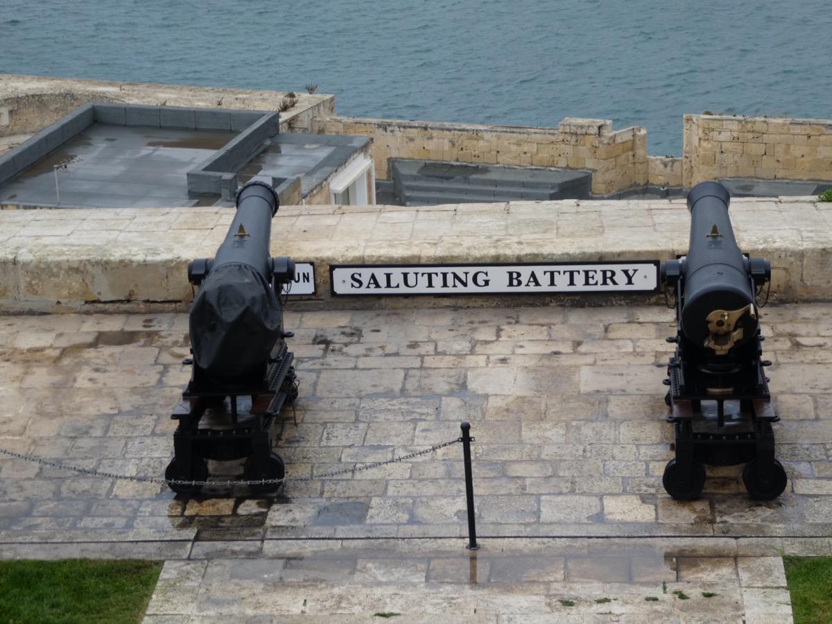 Saluting Battery, Vallettta,, Malta