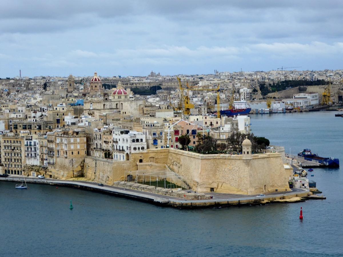 View from Vallettta across to Sliema