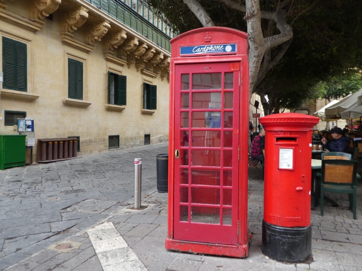British post and telephone box, Vallettta, Malta