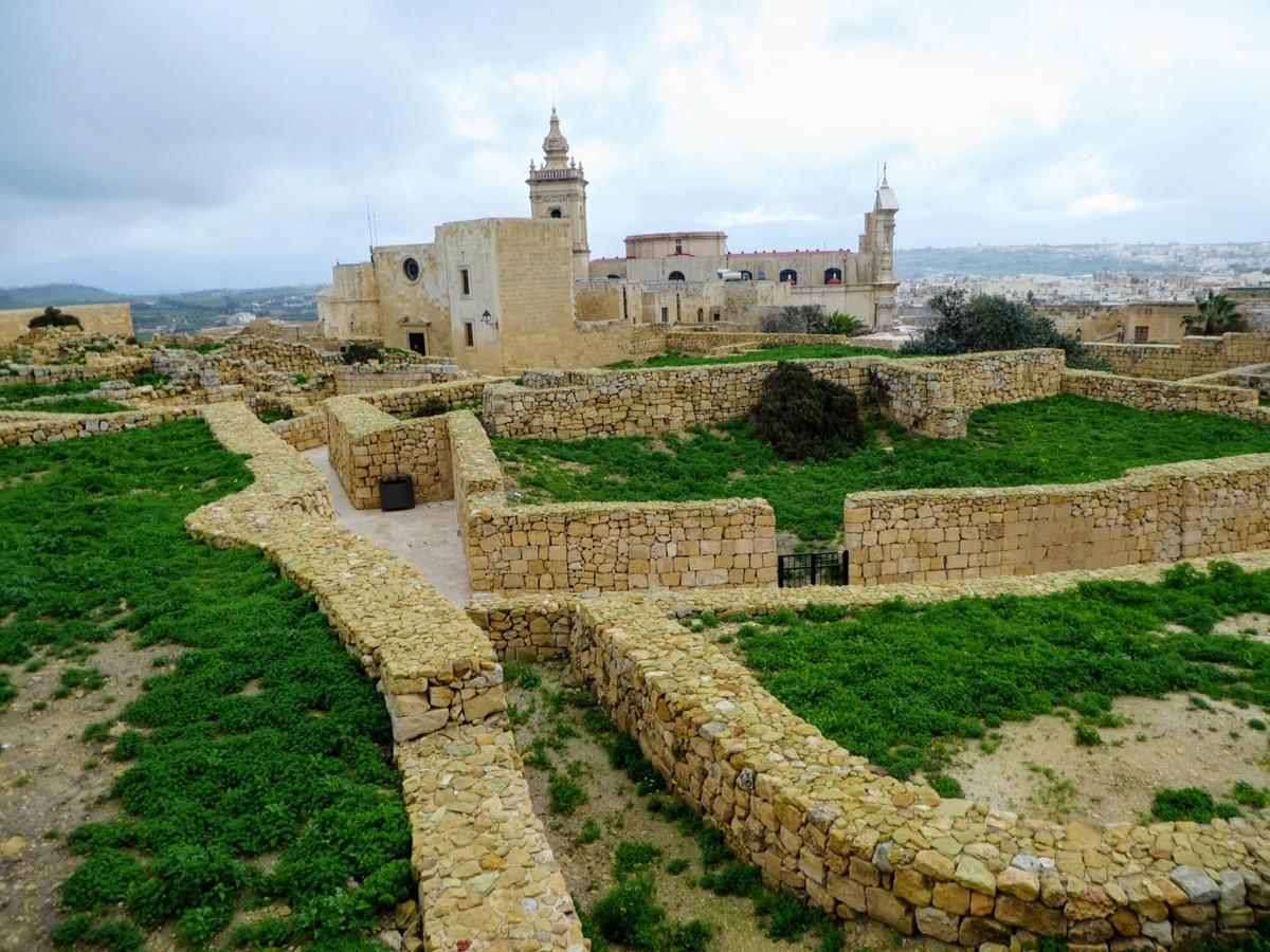 The Roman Walls of The Citadel, Gozo, Malta