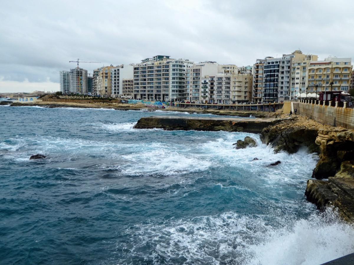 Sliema coastline