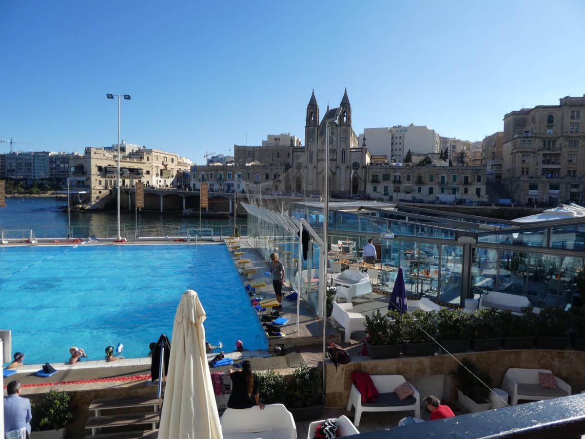 Lido and waterfront, St.Julian's Bay , Malta