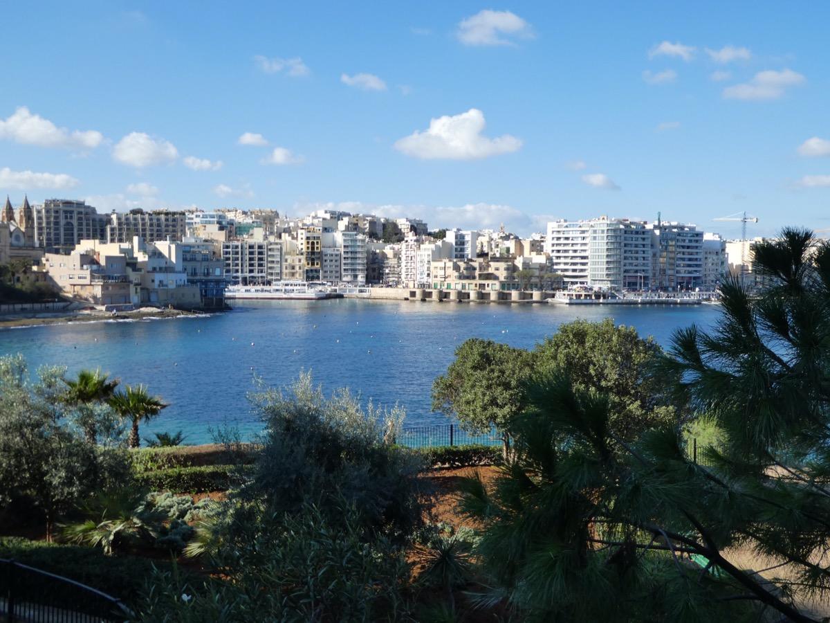 Promenade between St. Julian's and Sliema Malta