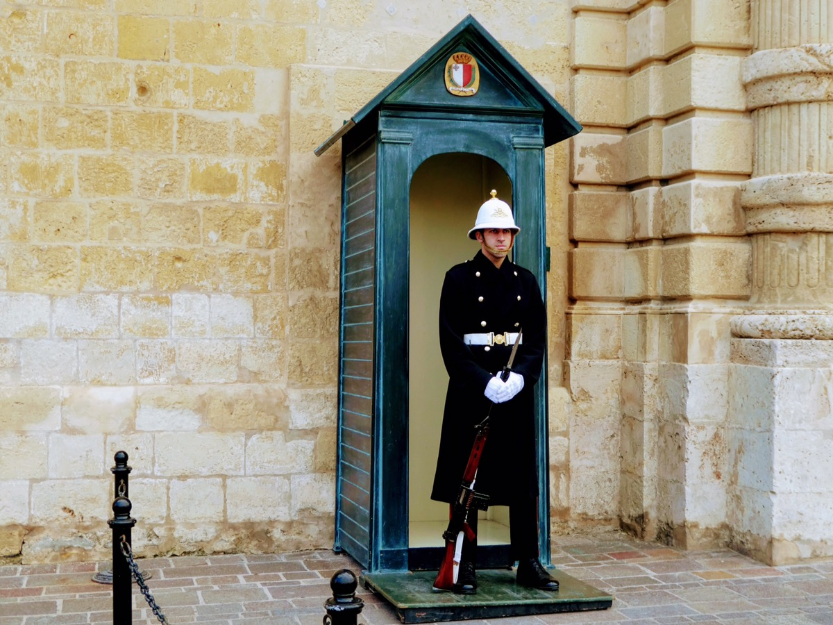 Guard outside the Grand Master's Palace, Valletta