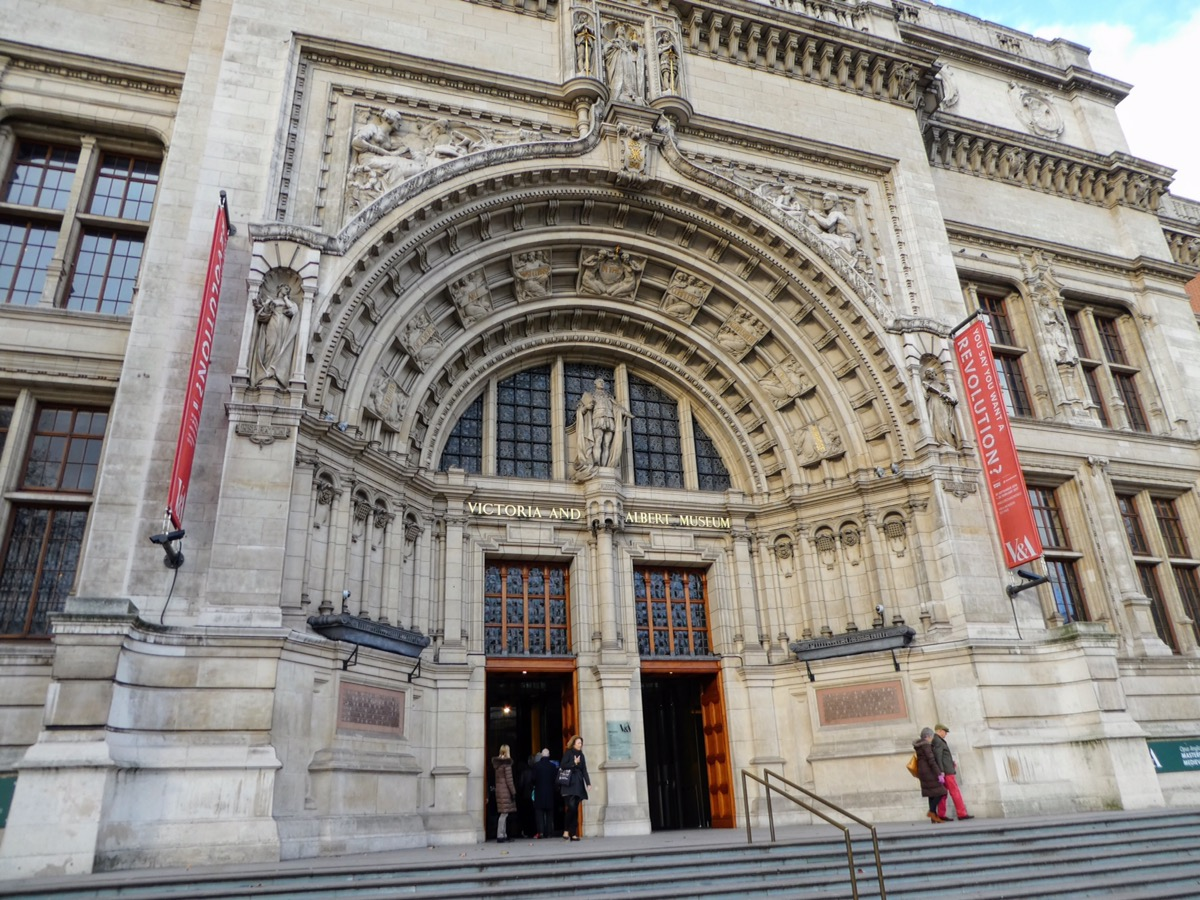 The entrance to the Victoria & Albert Museum