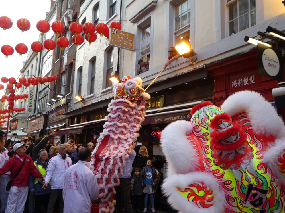 Lion dancers Chinese New Year London