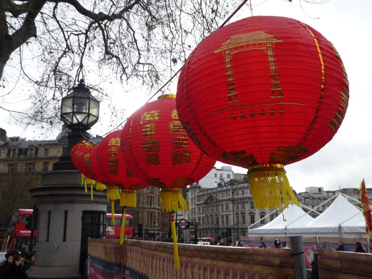 Chinese Lanterns, Trafalgar Square, London