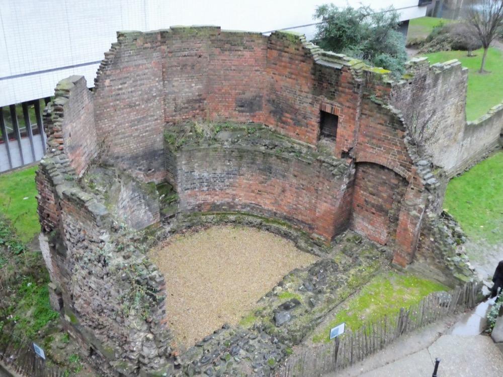 Roman London Wall, Barbican, London