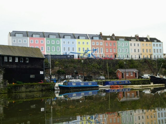 Coloured houses, Bristol waterfront
