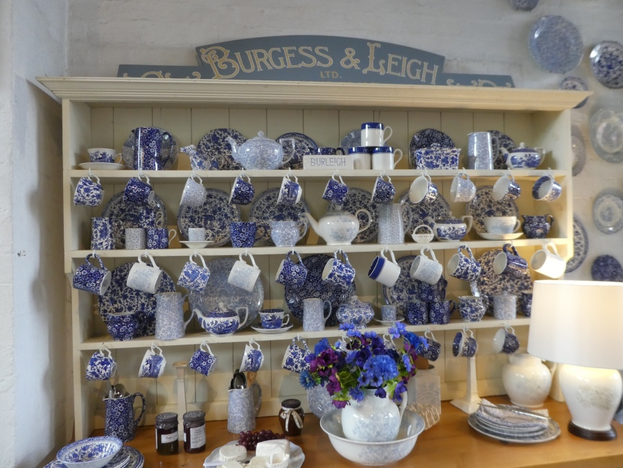 Burleigh pottery display