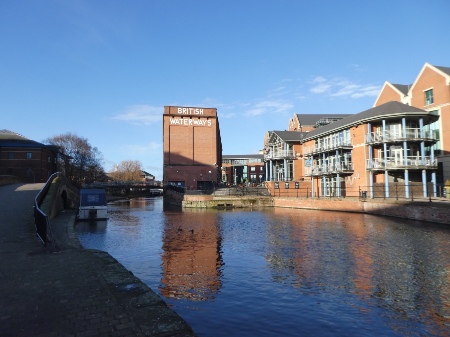 British Waterways building alongside the canal, Nottingham