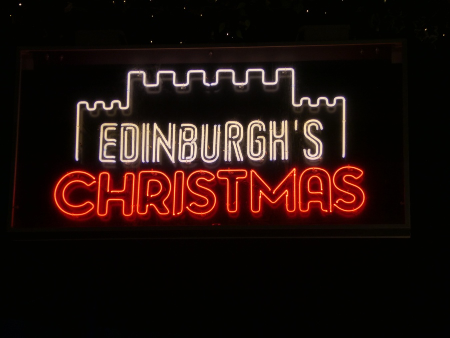 Edinburgh's Christmas sign
