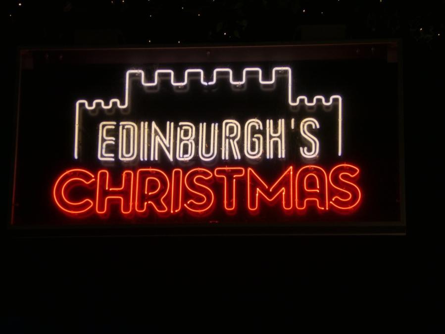 Edinburgh's Christmas sign