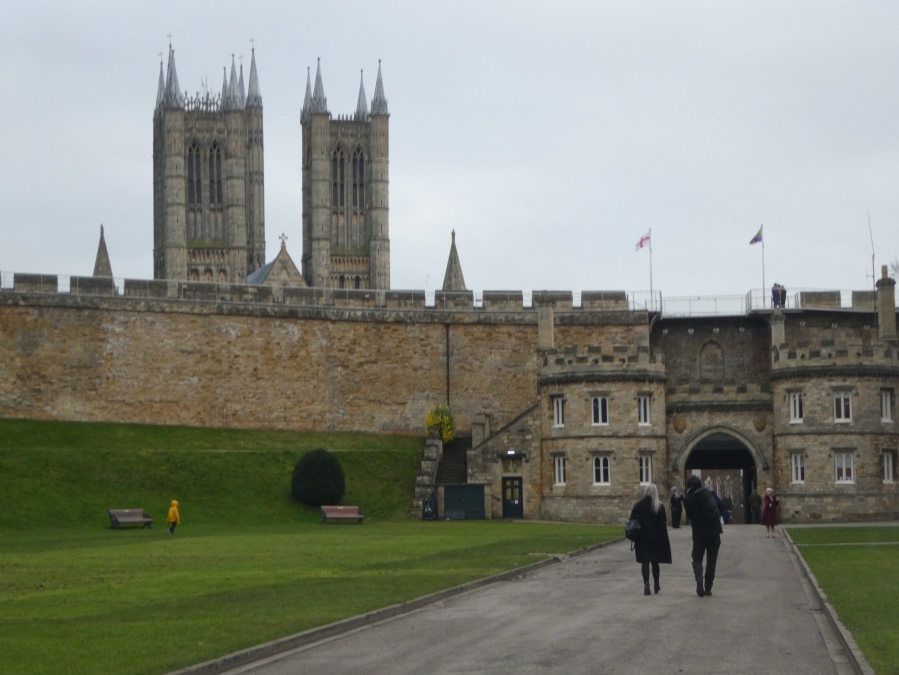 Lincoln Cathedral from the Lincoln castle grounds