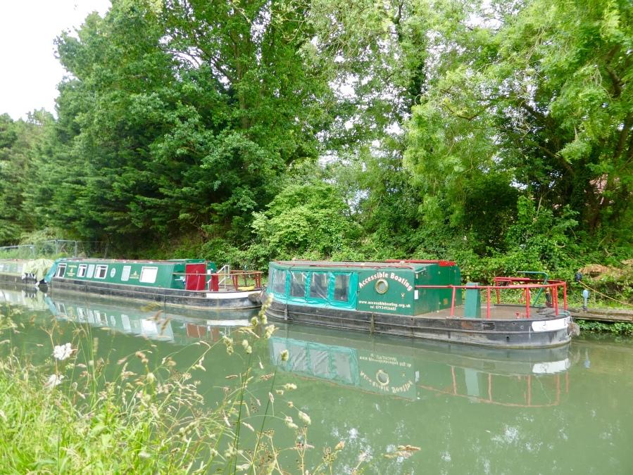 Canal boats, Basingstoke canal, Odiham
