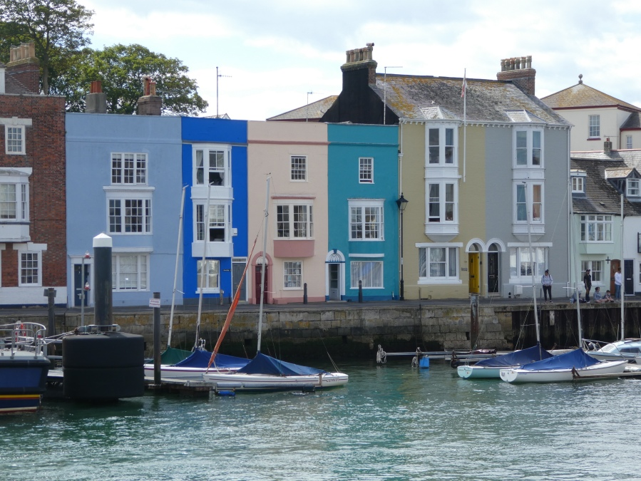 Pastel coloured Houses, Weymouth Harbour