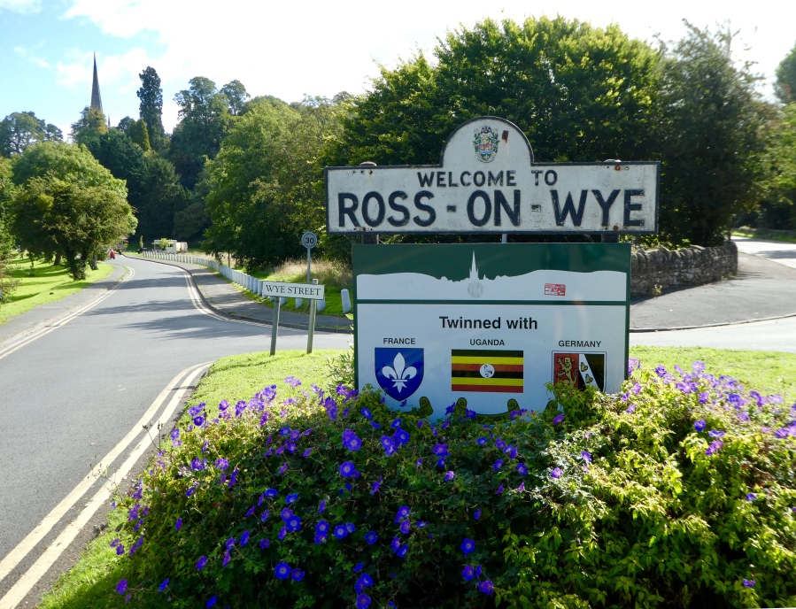 Ross-on-Wye town sign