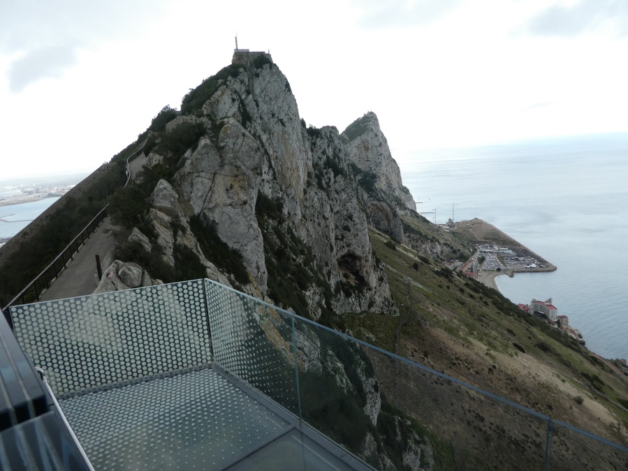 Rock of Gibraltar from the Skywalk
