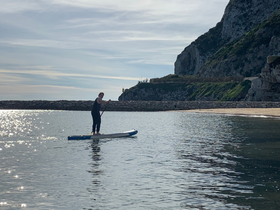 Paddleboarding in Gibraltar