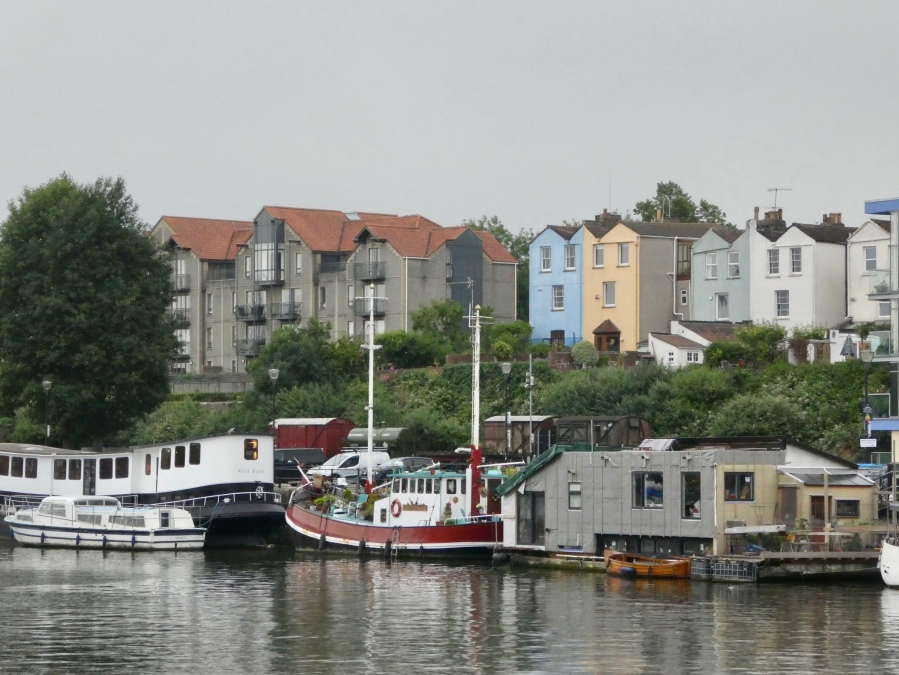Colourful houses in Bristol harbour