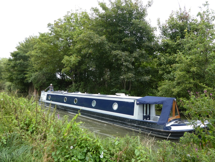 Canal boat on the Kennet and Avon, Newbury